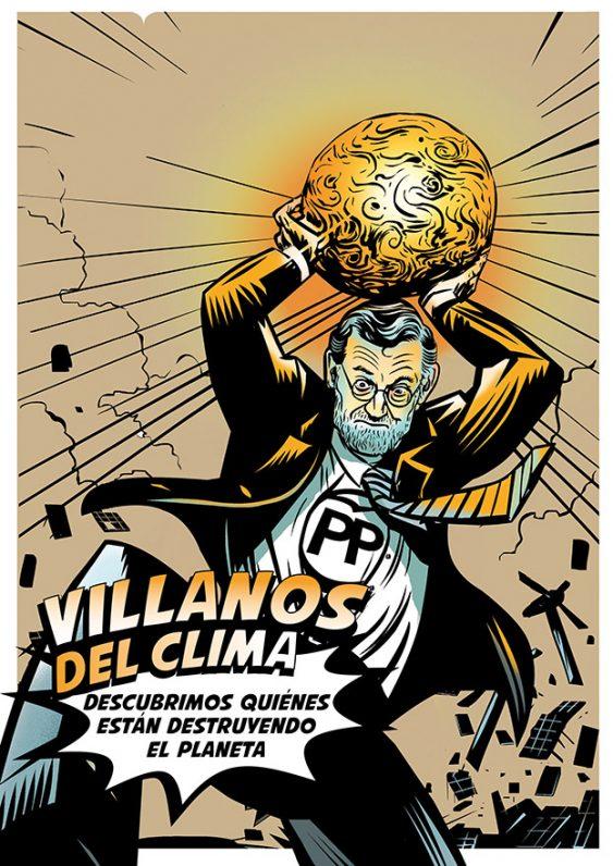 Ilustración de Rajoy, villano del clima