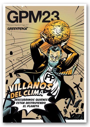 portada del numero 23 con rajoy villano del clima