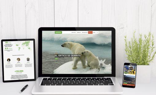 Imagen de: Nueva web 'Greenpeace'