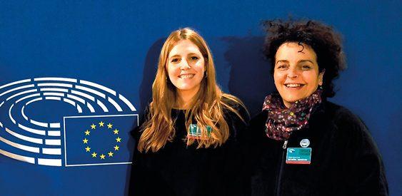 Eloina Camiña y Sofía Serrano