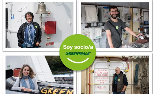 Imagen de: Fieles a greenpeace
