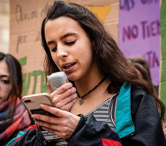 María (barcelona) organizadora de la 1ª huelga climática de menores en España