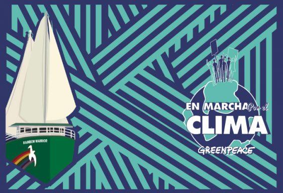 Imagen de la campaña En marcha por el clima con el Rainbow Warrior