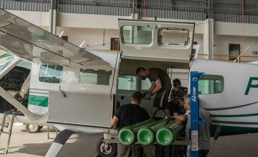 Imagen de: Greenpeace lleva oxígeno a la Amazonia